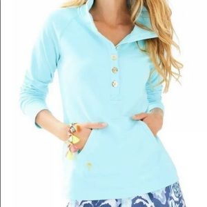 EUC Lilly Pulitzer Captain Pullover in Serene Blue